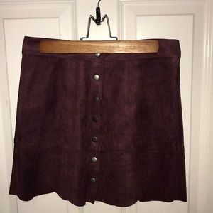 American Eagle suede skirt